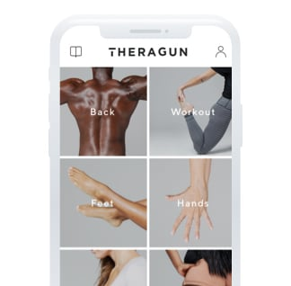 Theragun app shown on phone