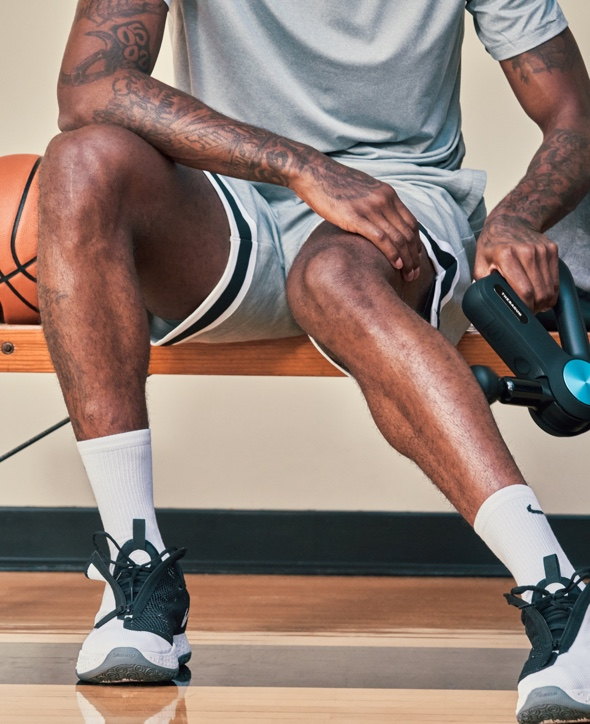 Paul George treating calf with device