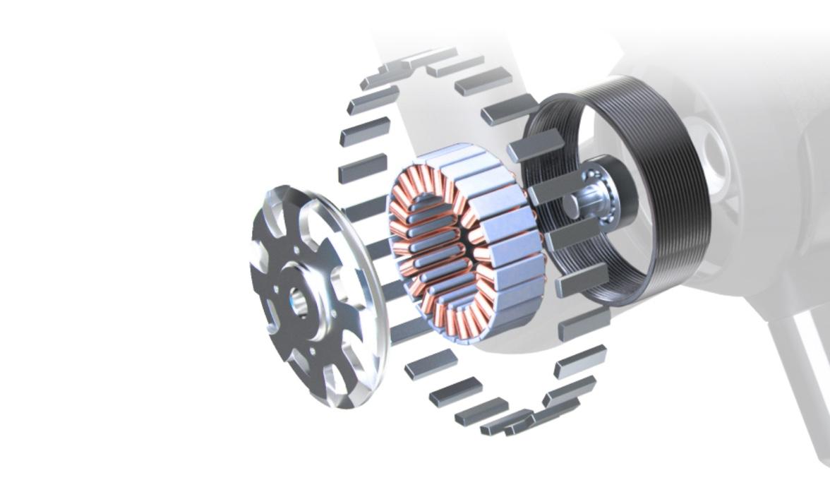 animation of theragun motor