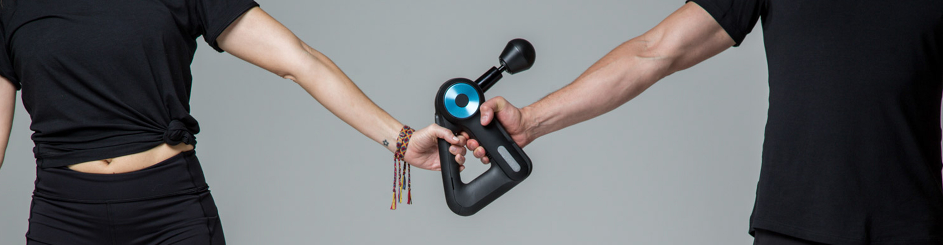 two people holding device